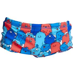 Funky Trunks Printed Badebukser Småbørn, blå/rød